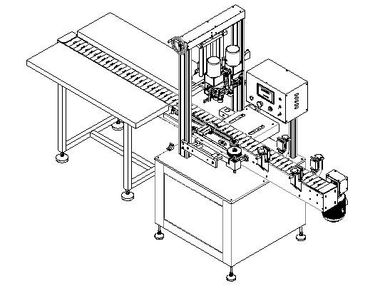 Naprava za samodejno pričvrščevanje 10 različnih tipov zamaškov, pokrovčkov in zapork na plastenke