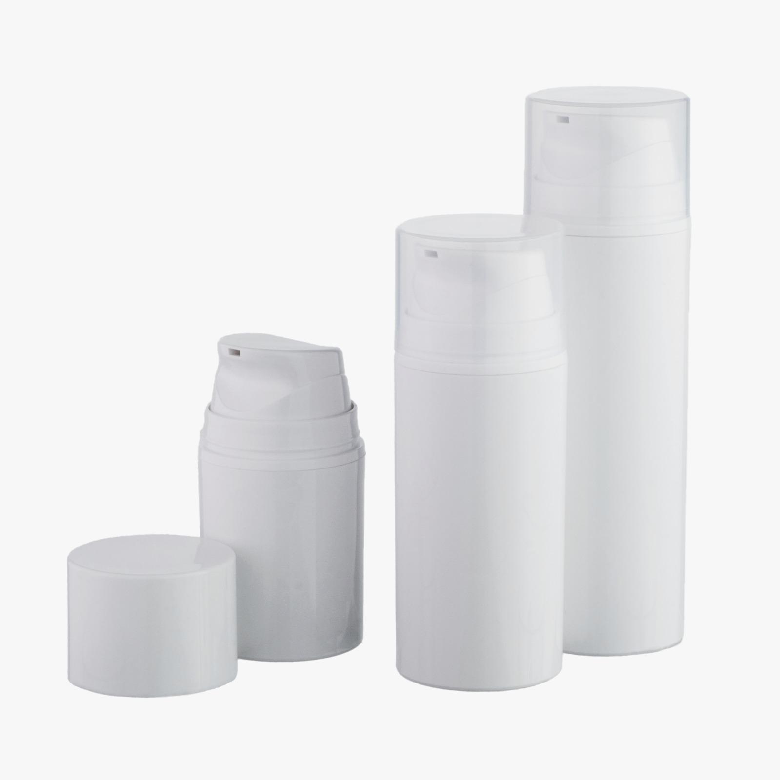 Na zalogi: airless plastenke z razpršilkami 50 ml, različnih oblik in barv