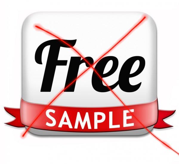 Brezplačnih vzorcev izdelkov in materiala ne ponujamo več: po pošti jih pošiljamo samo proti plačilu poštnine